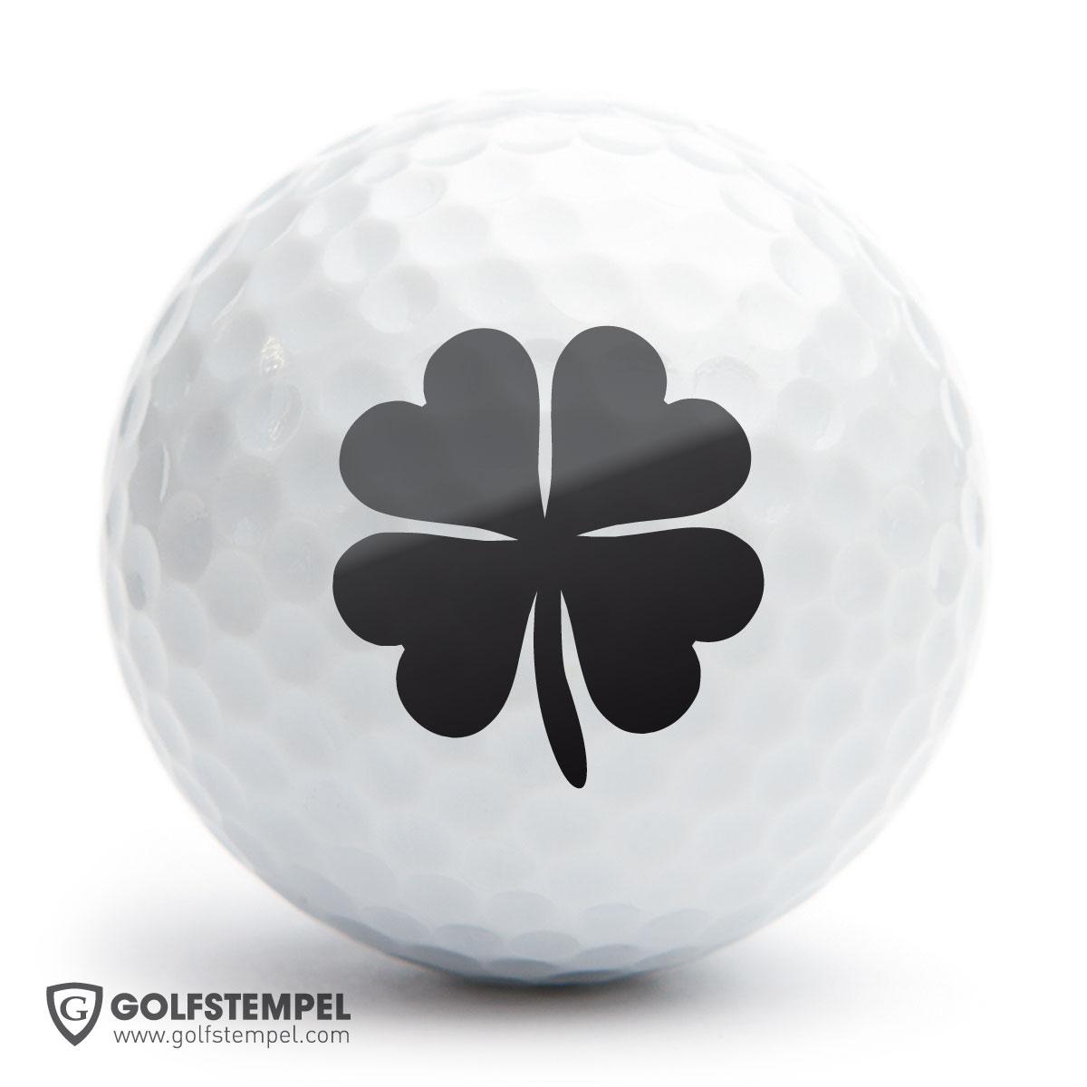 golfball stempel a25 motiv klee. Black Bedroom Furniture Sets. Home Design Ideas